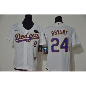 Youth LA Dodgers Kobe Bryant White  Jersey